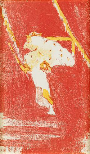 Michał Przybyłowicz jako król w sztuce Kopciszek, 1904 r.