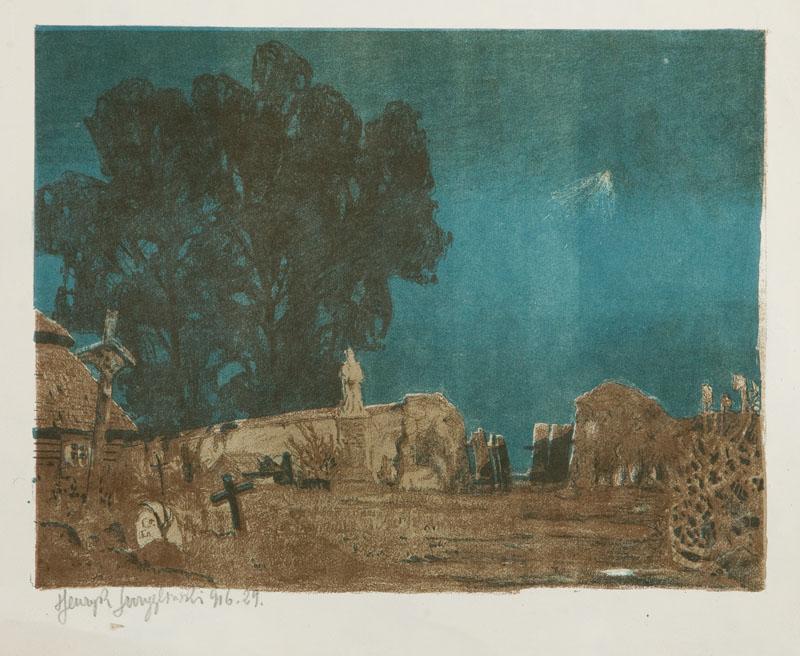 Cmentarzyk wiejski, 1916 r.