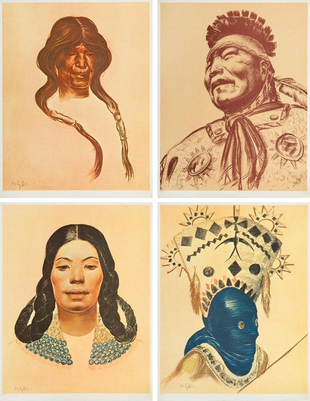 Teka Folio One of American Indian, 1970 r.