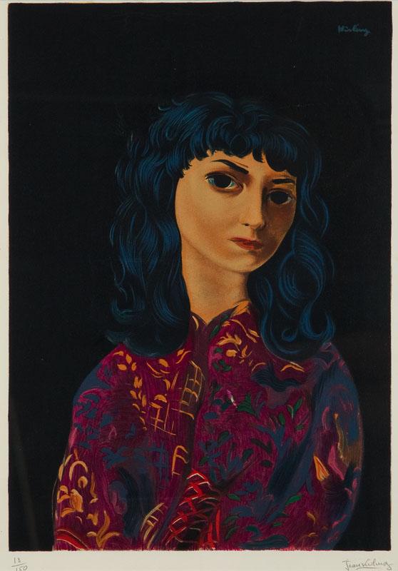 Portret brunetki