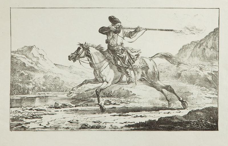 Kozak na koniu, 1835 r.