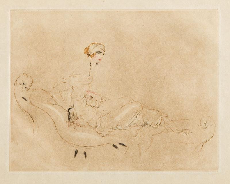 Portret damy na rekamierze, 1925 r.