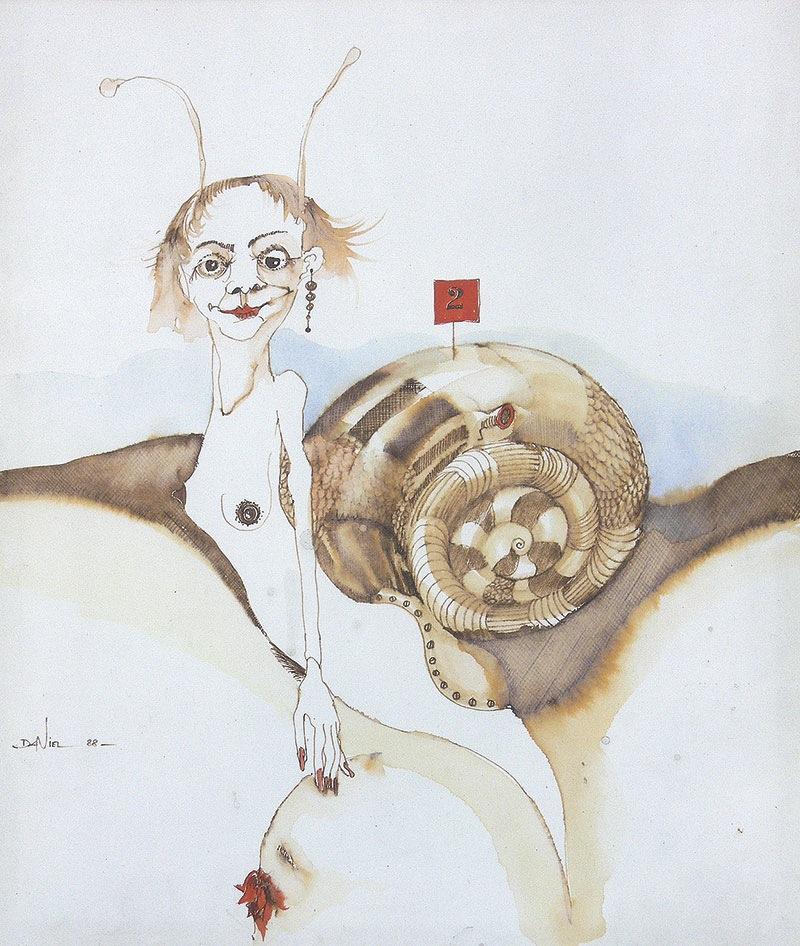Kobieta-ślimak, 1988 r.