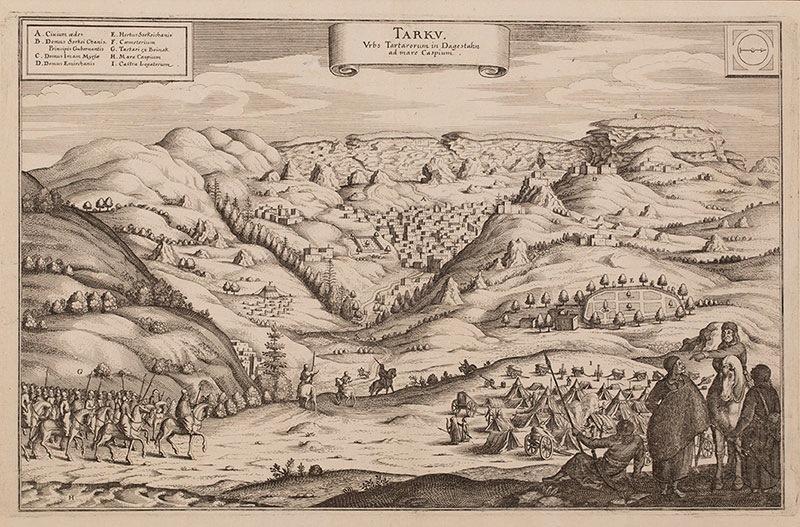 Tarku: Urbs Tartarorum in Dagestan ad Mare Caspium, 1649 r.