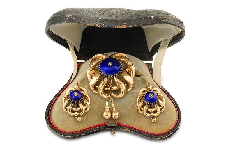 Komplet biżuterii biedermeier, Rosja, poł. XIX w.