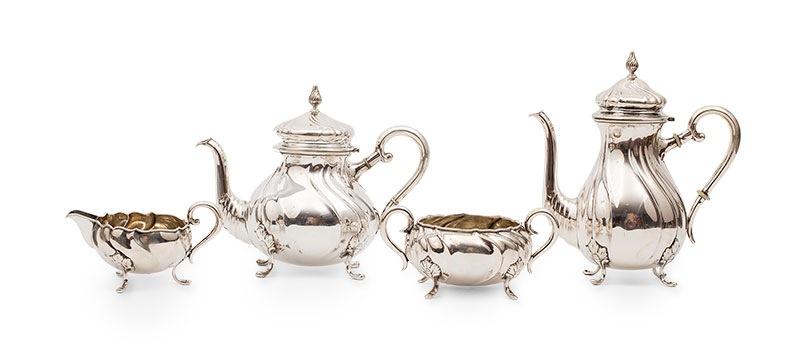 Serwis do kawy i herbaty, Dania, proj. C.M. Cohr-Fredericia (1893-1937)