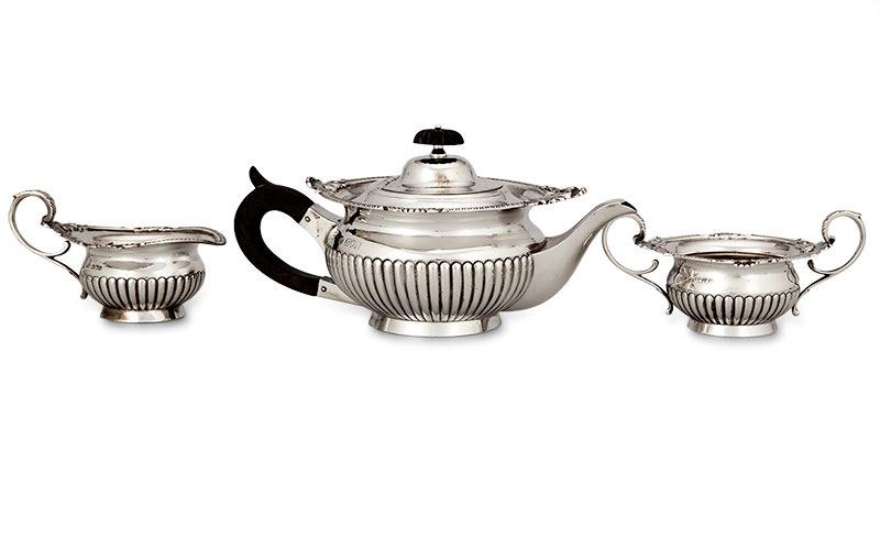 Serwis do herbaty Londyn - Sheffield, William Hutton & Sons Ltd, 1905 r.