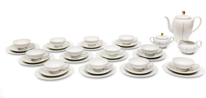 Serwis do kawy dla 12 osób, Rosenthal, Royal Velvet , XX w.