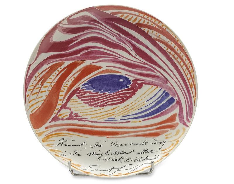 Talerz dekoracyjny nr 17, Rosenthal Studio Line proj. Ernst Fuchs (1930-2010), 1981 r.