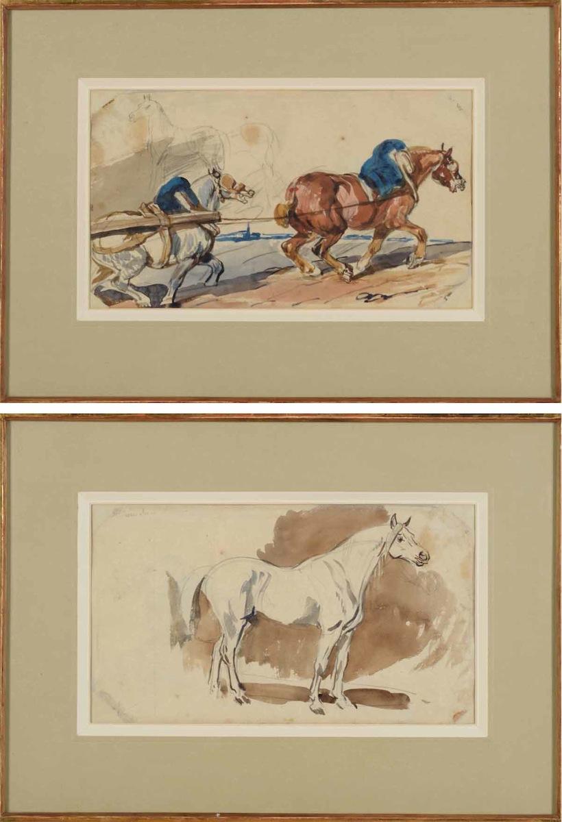 Konie w zaprzęgu