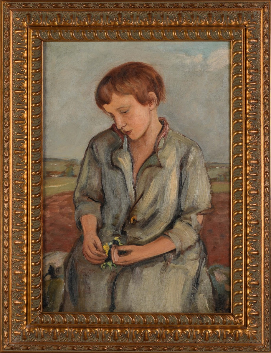 Dziewczynka ze słonecznikiem, ok. 1925-1930