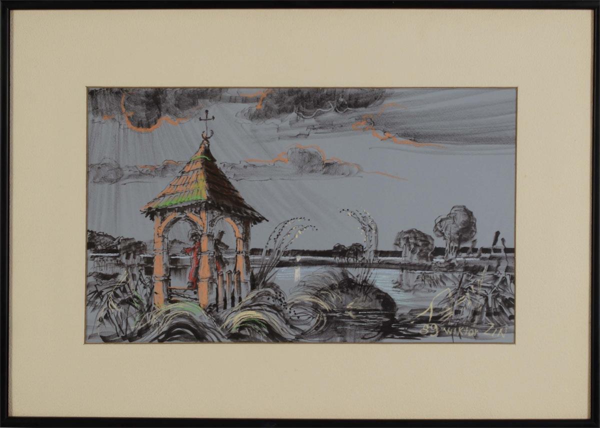 Pejzaż z architekturą, 1989