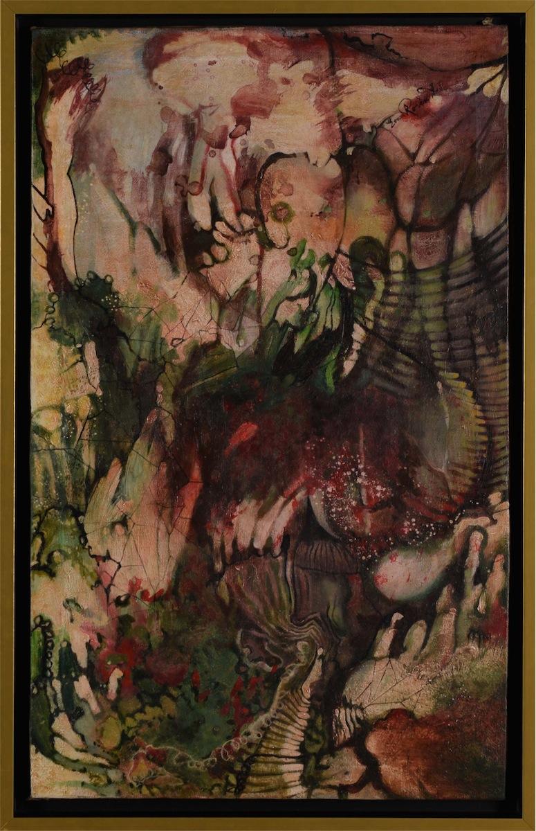 Abstrakcja - czerwień i zieleń