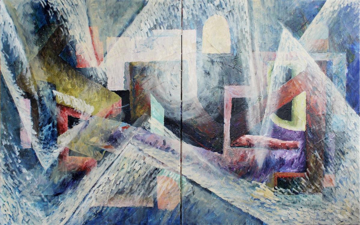 Bez tytułu VII a-b z serii Formy barwne, dyptyk, 2015