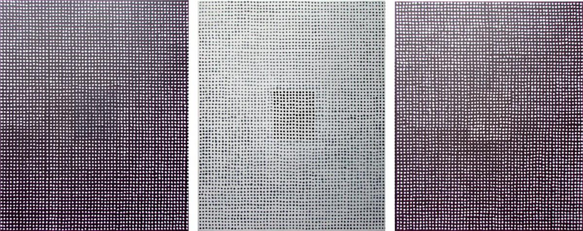 I, II, III, tryptyk, 2015