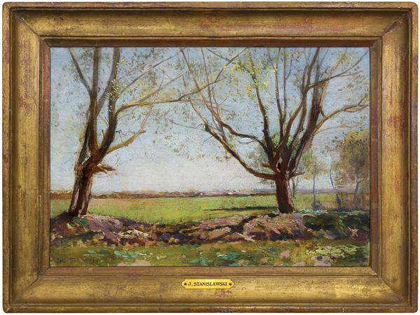 WIOSENNE DRZEWA, ok. 1890