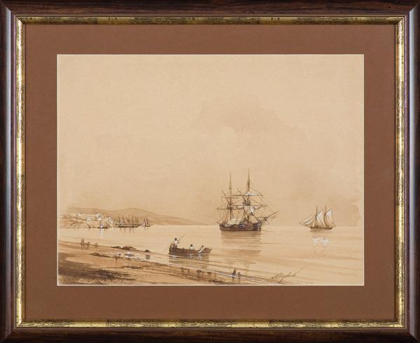 ŻAGLOWCE NA REDZIE, ok. 1850