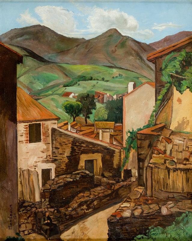 Uliczka w górskim miasteczku, 1924 r.