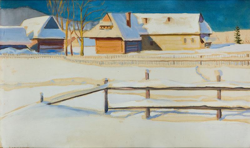 Pejzaż zimowy, 1921 r.