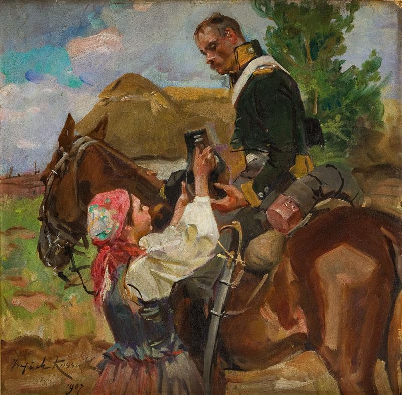 Ułan i dziewczyna , 1907 r.