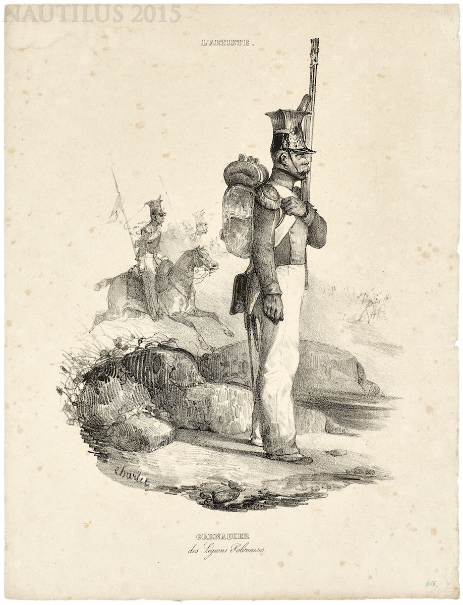 Grenadier Legionów Polskich, 1837