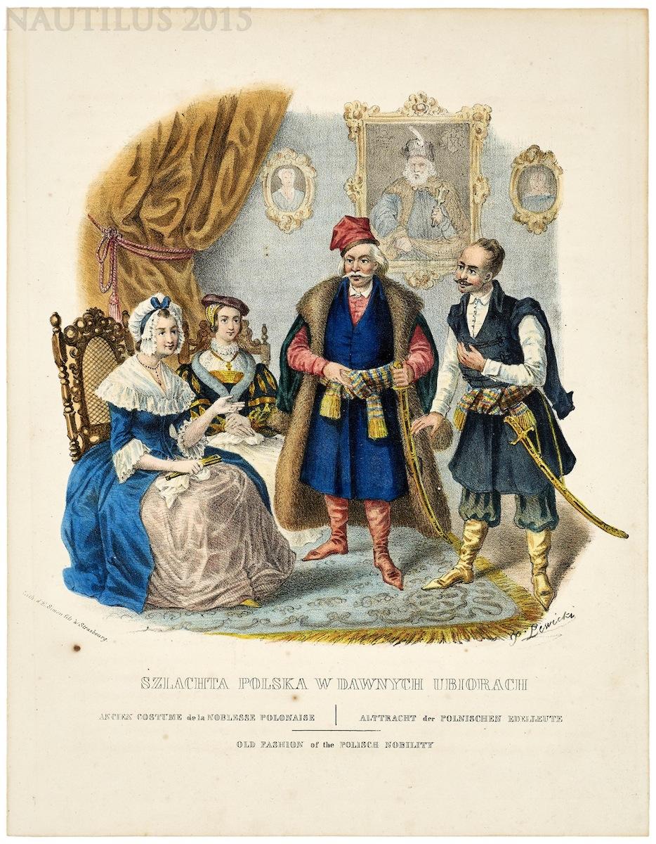 Szlachta polska w dawnych ubiorach, 1841