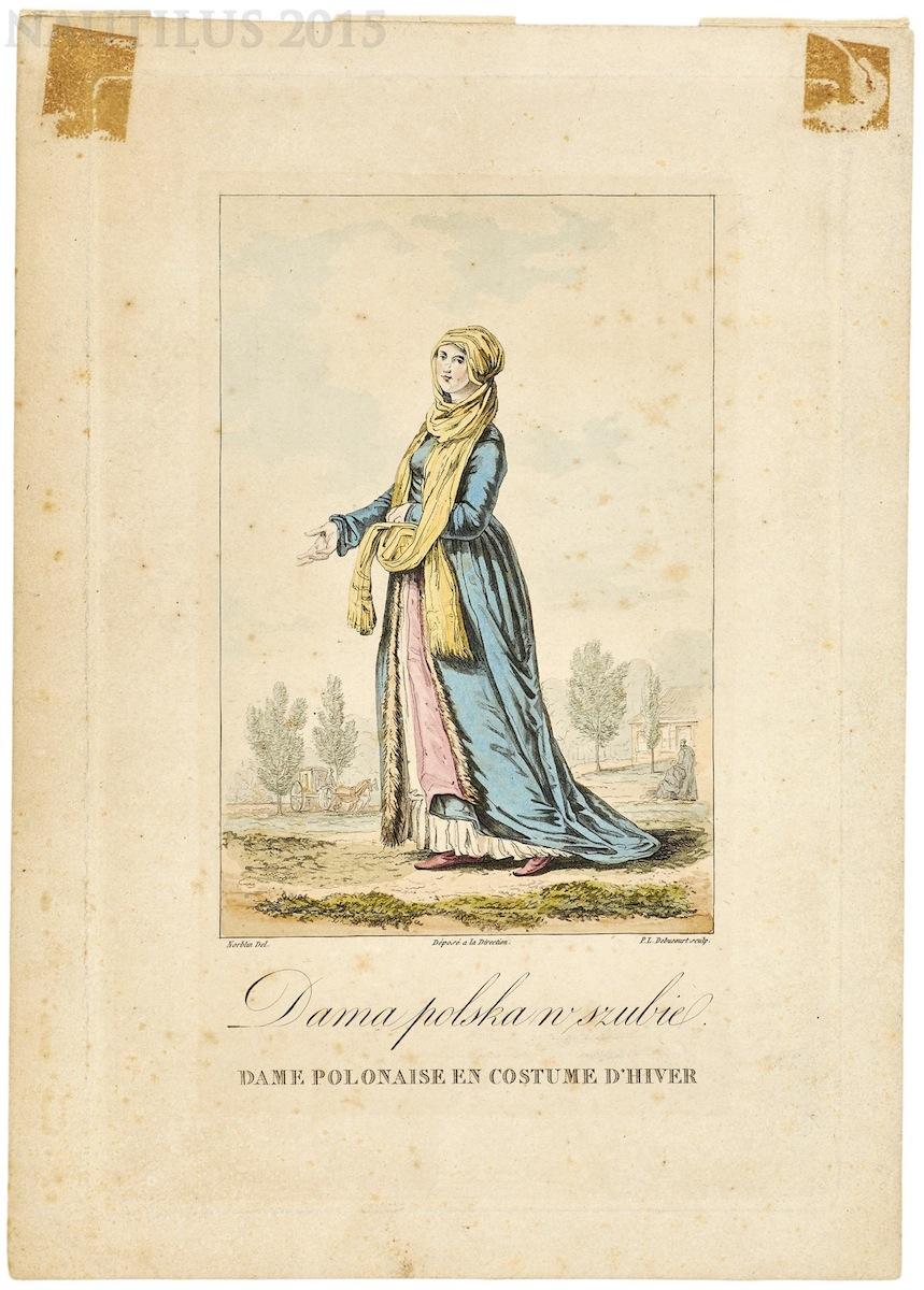 Dama polska w szubie, 1817