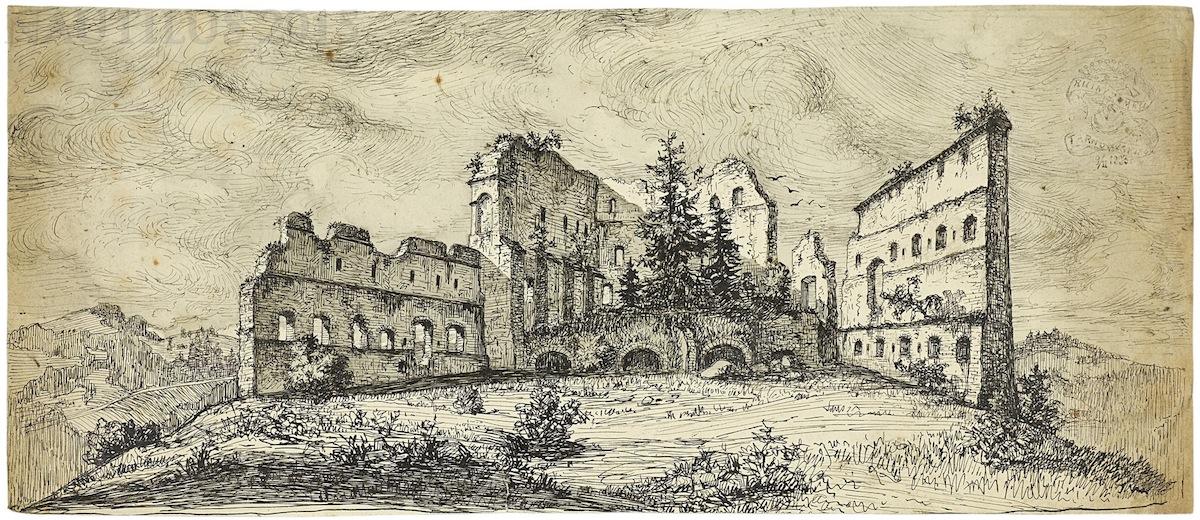 Ruiny zamku w Tarnowie, 1893