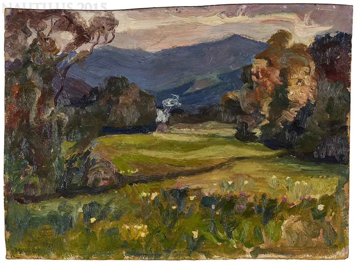 Pejzaż Czarnohory z Kosmacza, 1931