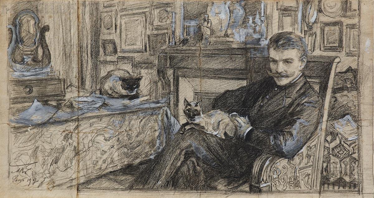 Kazimierz Woźnicki w swoim gabinecie, 1917