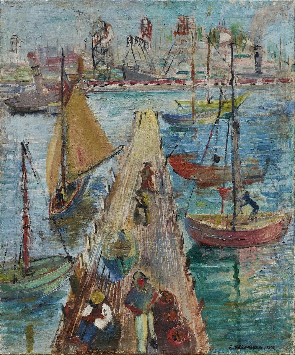 Gdynia. Port rybacki, 1932