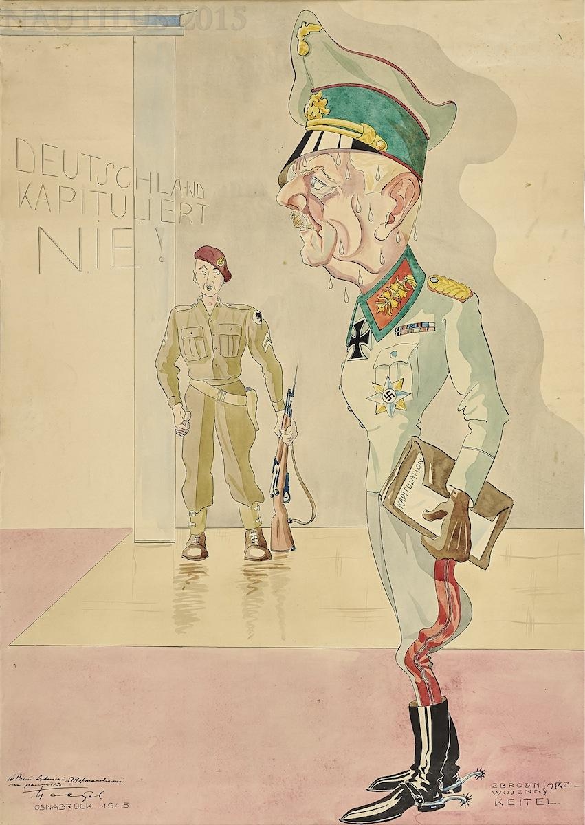 Karykatura feldmarszałka Keitla, 1945
