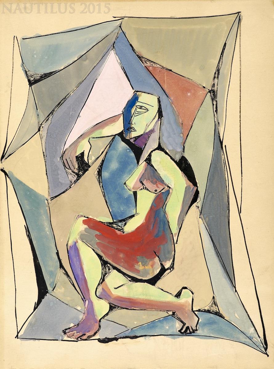 Akt kubistyczny, ok. 1950