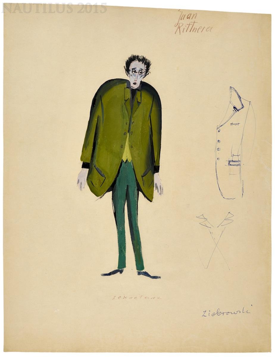 Projekt kostiumu, 1957