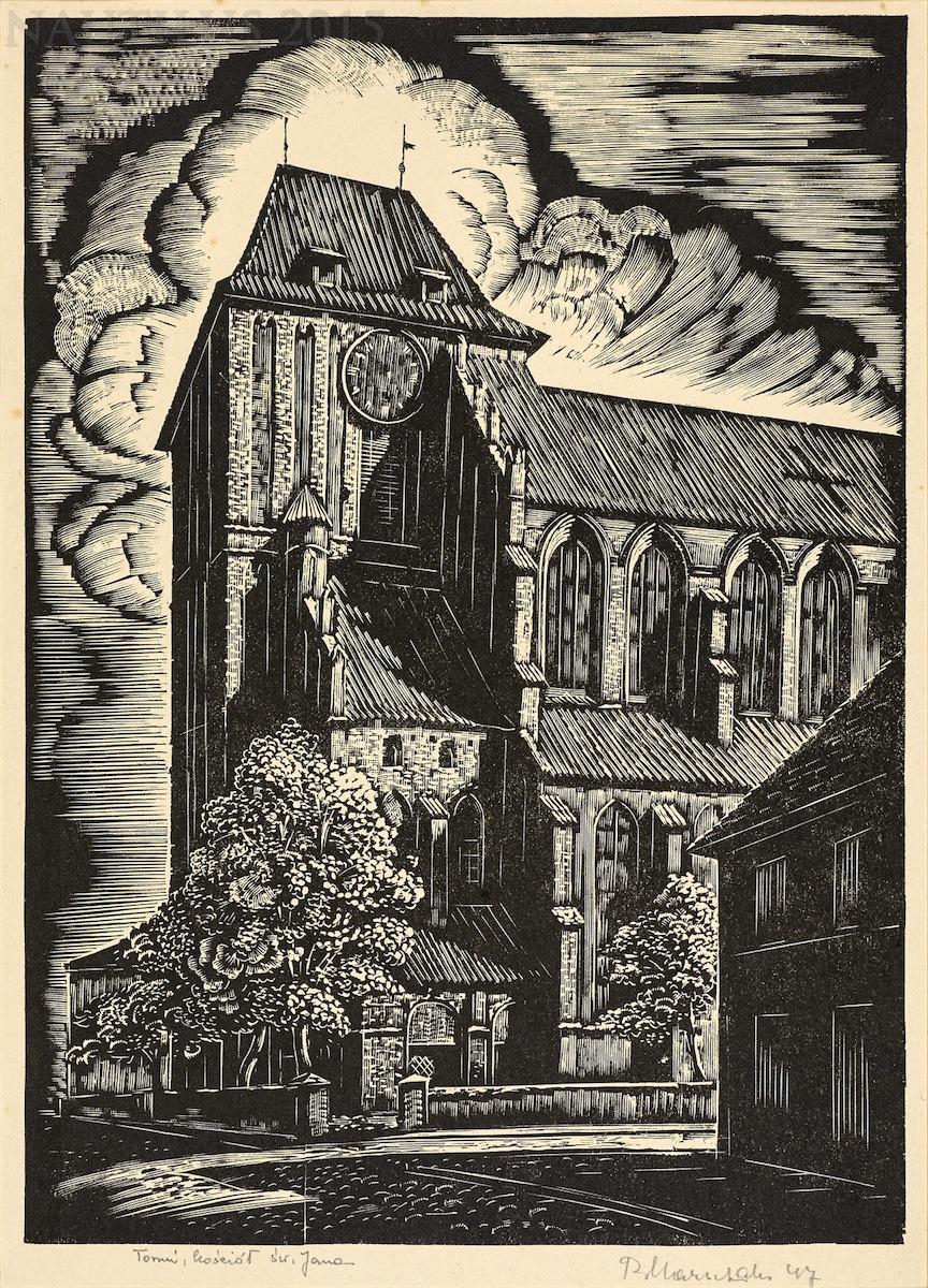 Toruń. Kościół św. Jana, 1947