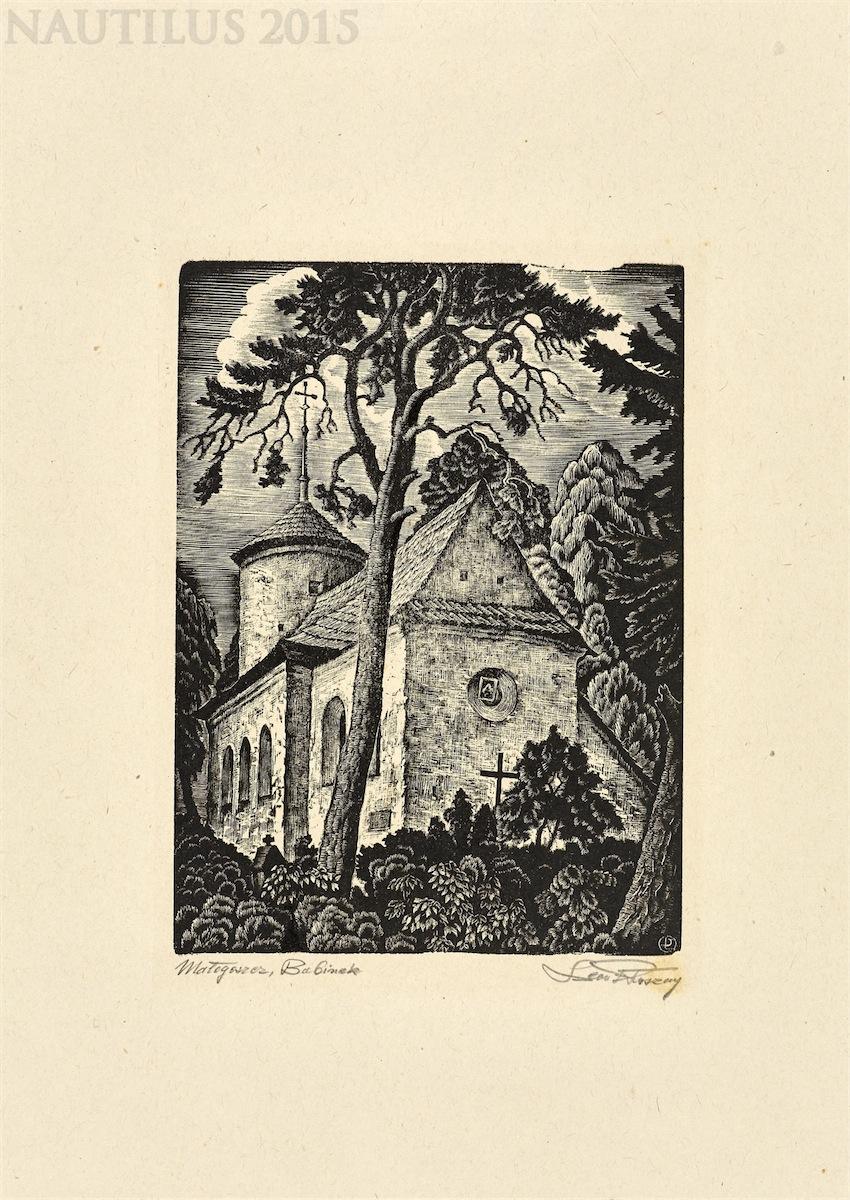 Małogoszcz. Babinek [Kościółek św. Stanisława biskupa na wzgórzu Babinek], ok. 1943