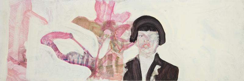 Portret kuzyna chowającego się za rośliną, 2008 r.