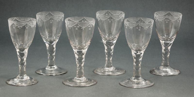 Sześć kieliszków kryształowych (Seven Crystal Glasses),