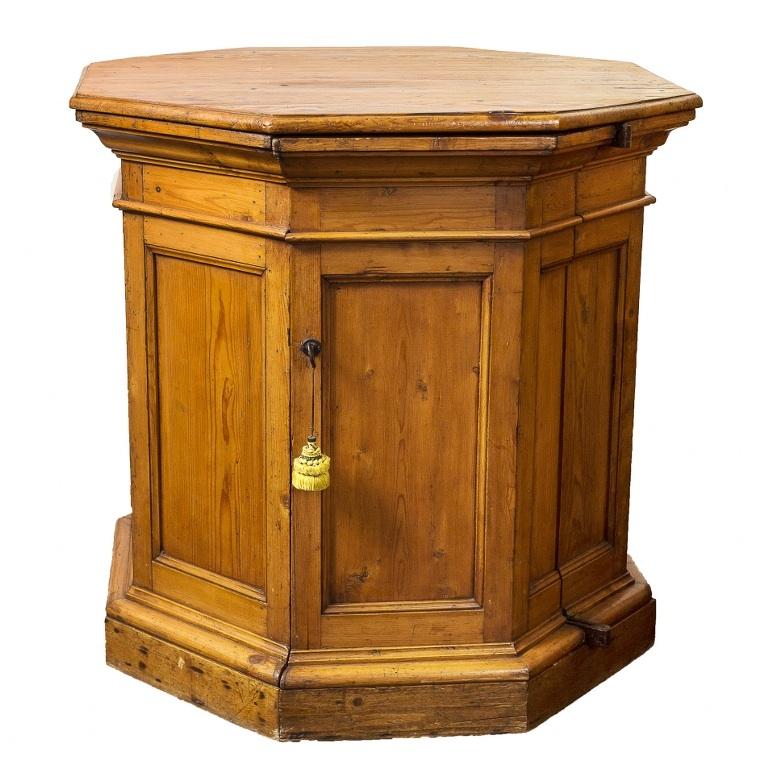 Ośmioboczna szafka (An octagonal pine wood locker)