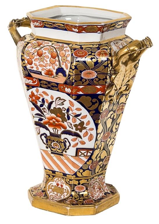 Wazon Bloor Derby (A porcelain Bloor Derby vase)