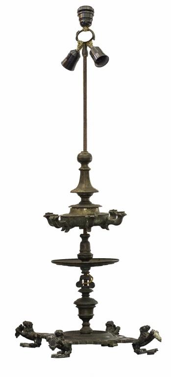Lampa oliwna z brązu (A north Italian bronze oil lamp)