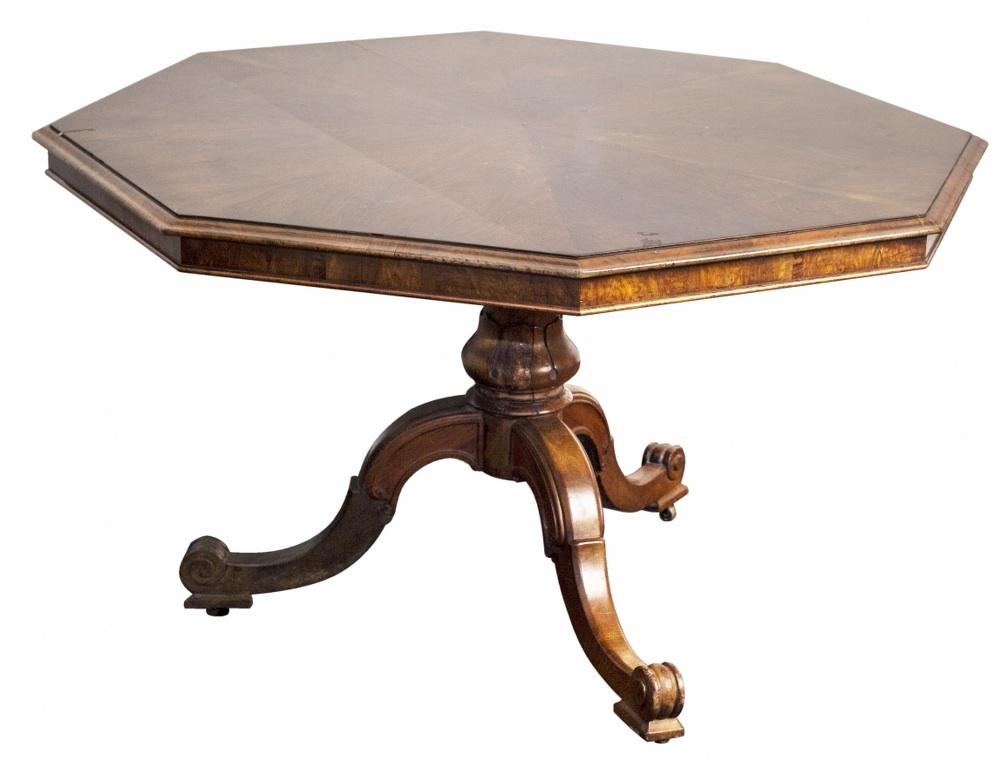 Ośmiokątny stół śniadaniowy (An early victorian walnut octagonal breakfast-table)