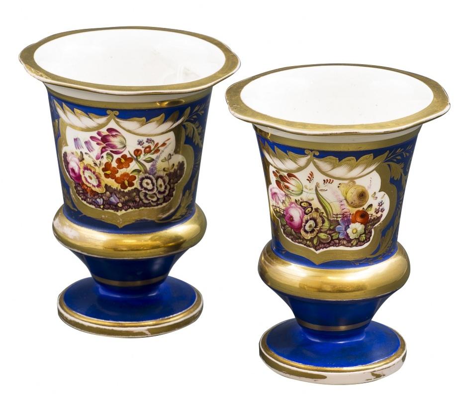 Para kraterów (A pair of blue-ground goblets)