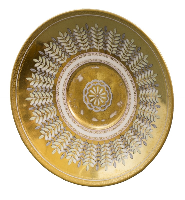 Podstawka pod filiżankę (A gilt Vienna saucer)