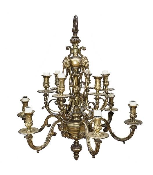 Żyrandol (A twelve-branch gilt bronze chandelier)