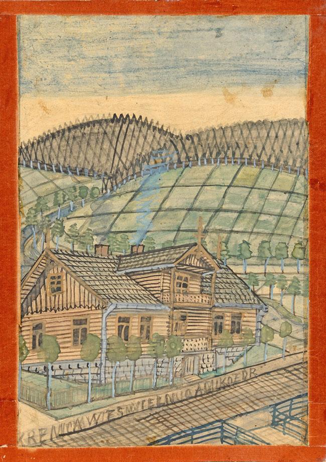 DREWNIANA WILLA w KRYNICY, l. 50-te XX w.