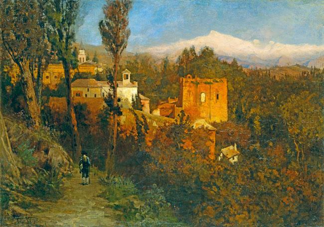 WIEŻA SPRAWIEDLIWOŚCI, ALHAMBRA, HISZPANIA, ok. 1882