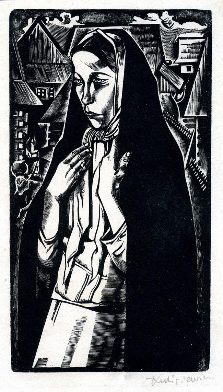 DZIEWCZYNA w CZARNEJ CHUŚCIE, 1928-1930