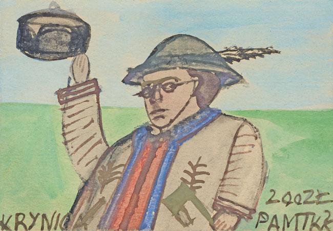 PAMIĄTKA z KRYNICY (z autoportretem)