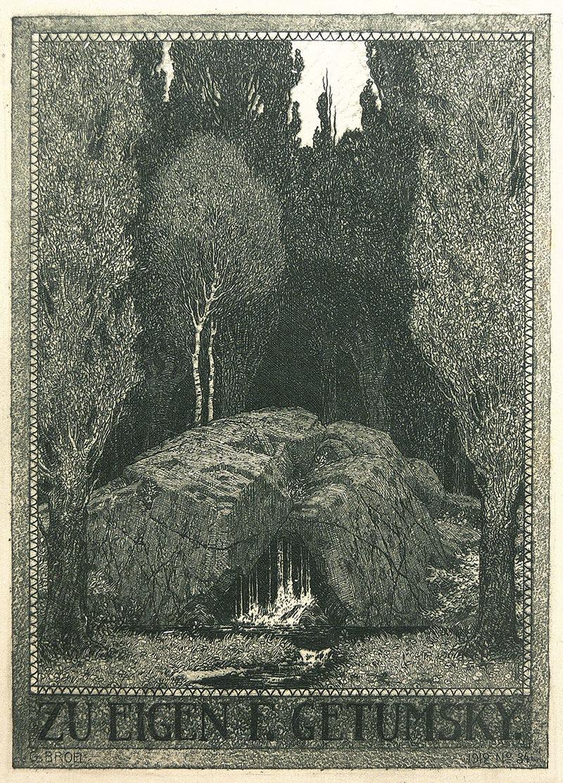 Ex libris Eigena Getumsky'ego, 1912 r.